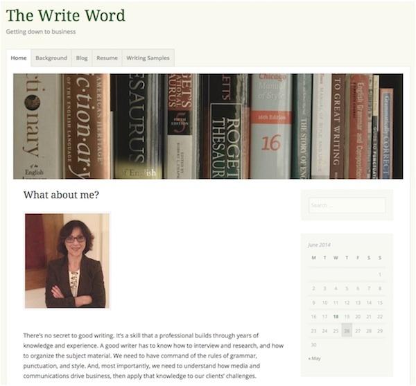 the write word - home