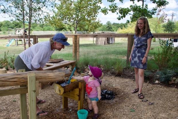 Terri Roney and Lena at Little Acorn Park